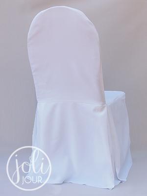 Location Housses De Chaise En Poly Coton Blanc JOLI JOUR