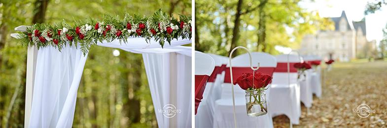 Arche de ceremonie avec voilages location houppah mariage-bordeaux nantes-tours