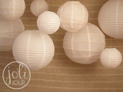 Location Lanternes Boules Blanches Joli Jour