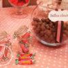Location bar a bonbons idee decoration candy bar rose pale chocolat mariage