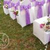 Location ceinturage lilas parme decor de mariage