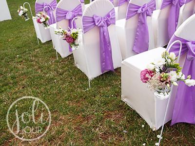 Location noeud satin lilas mauve pour housses de - Location de chaise pour mariage ...