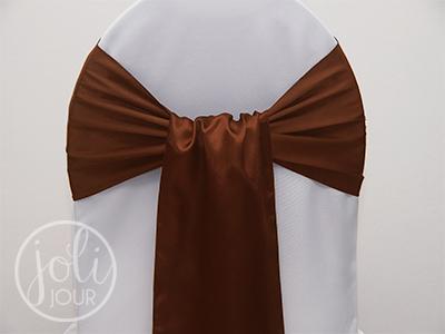 Location-ceinturage-marron-chocolat-satin-pour-housses-de-chaises