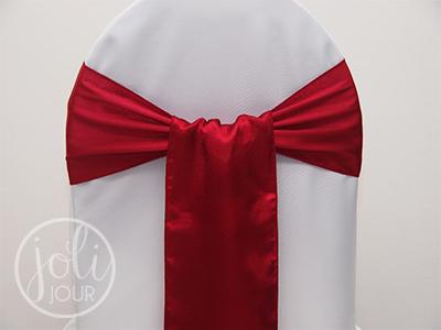 Location Noeuds En Satin Rouge Bordeaux Pour Chaises Joli Jour