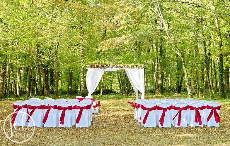 Location chaises et housses pour ceremonie exterieur decoratrice houppa
