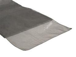 Location chemins de table gris argenté en organza