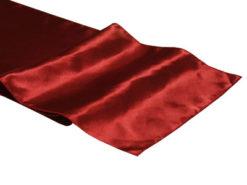 Location chemins de table rouge bordeaux en satin
