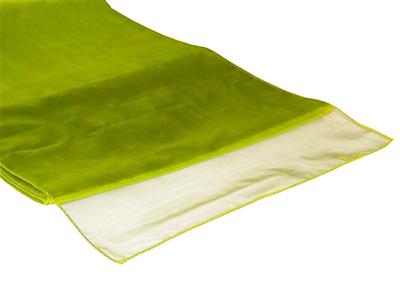 location chemin de table vert anis organza joli jour. Black Bedroom Furniture Sets. Home Design Ideas