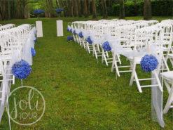 Location decoration de ceremonie piquet bout de bancs colonnes blanches poitiers niort la rochelle