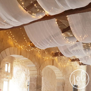 Location guirlandes lumineuses LED 10 m plafond decoration mariage