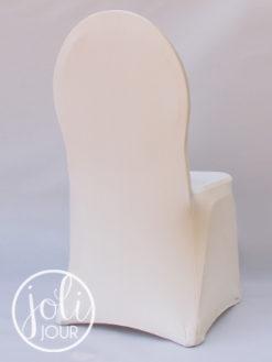 Location housses de chaises ivoires lycra ecrus