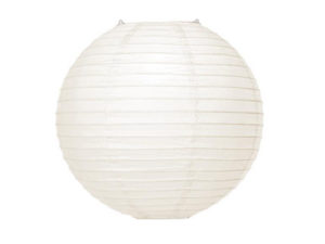Location lanternes blanches plafond boules chinoises pas cher mariage