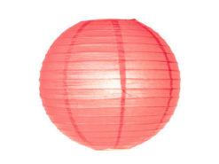 Location lanternes rondes boules chinoises corail rose decoration mariage