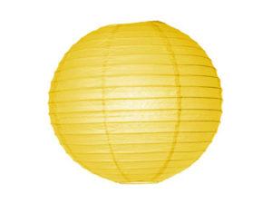 Location lanternes rondes boules chinoises jaune vif poussin canari