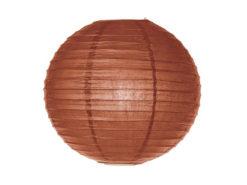 Location lanternes rondes boules chinoises marron chocolat