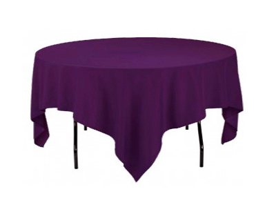 location nappes carr es violettes joli jour. Black Bedroom Furniture Sets. Home Design Ideas