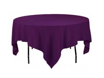 Location nappes carrees taffetas violet mariage poitiers niort angouleme tours