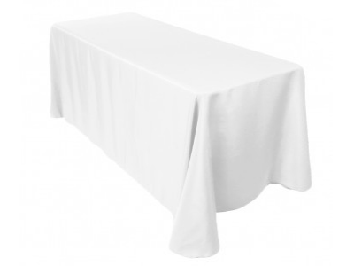 Location nappes rectangles blanches coton pour mariage poitiers