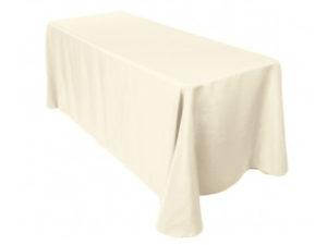 Location nappes rectangulaires ivoires coton pour mariage poitiers niort