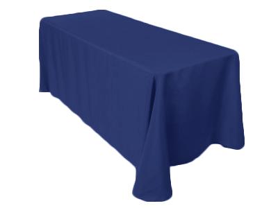 Location de nappes rectangulaires bleu nuit (bleu roi) - Poitiers, Niort, Angoulême, Bordeaux