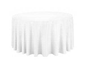 Location nappes rondes blanches diametre 290 300 310 cm coton pour mariage