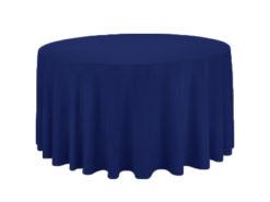 Location nappes rondes bleu nuit, bleu roi, 290 cm pour mariage et evenement - poitiers niort chateauroux