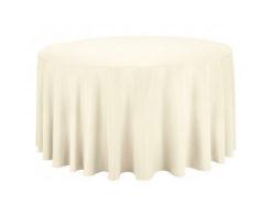 Location nappes rondes ivoires ecrues diametre 290 300 310 cm coton pour mariage