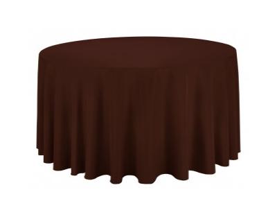 Location nappes rondes marron chocolat - Diamètre 300 cm