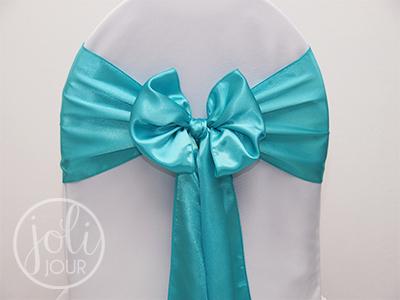 Location-noeud-bleu-turquoise-satin-pour-housses-de-chaises