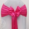 Location noeud rose fushia satin pour housses de chaises