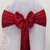 Location noeud rouge bordeaux satin pour housses de chaises