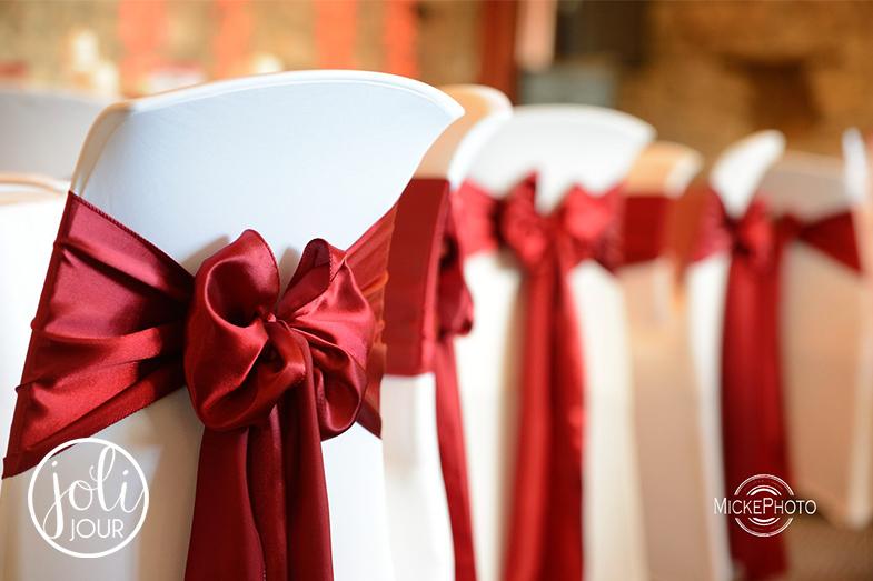 Location noeuds satin rouge bordeaux pour decoration de mariage