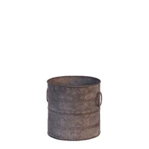 Location pot galvanisé taille moyenne - Décoration de mariage zinc métal