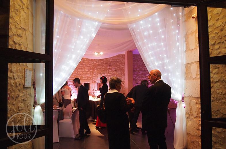 Location rideaux lumineux entree mariage Poitiers Niort Tours La Rochelle