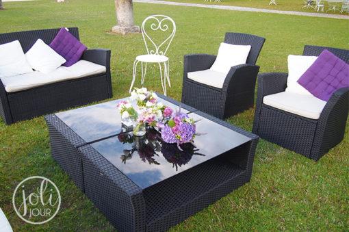 Location salon de jardin espace lounge mariage Poitiers Niort Tours Angouleme
