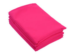 Location serviettes de table fushia tissu poly coton