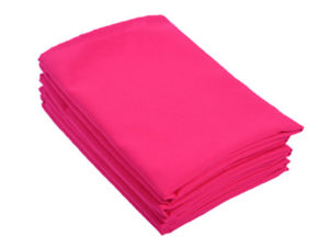 Location serviettes de table fushia tissu poly coton