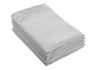 Location serviettes de table grises tissu poly coton