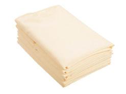 Location serviettes de table ivoires tissu poly coton