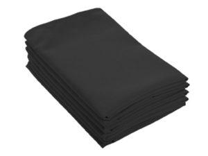 Location serviettes de table noires tissu effet coton