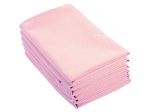 Location serviettes de table rose pale tissu effet coton