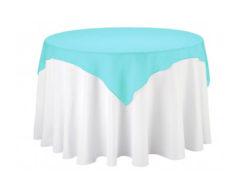 Location surnappes bleu turquoise - Décoration table de mariage