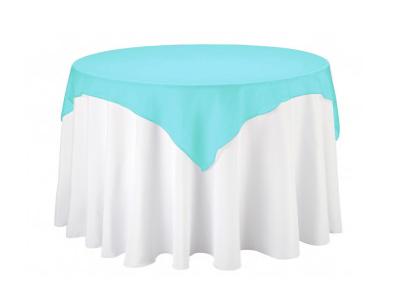 Location surnappe bleu turquoise organza joli jour for Decoration de table bleu turquoise