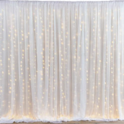 Location voilage lumineux mariage rideau LED tenture murale