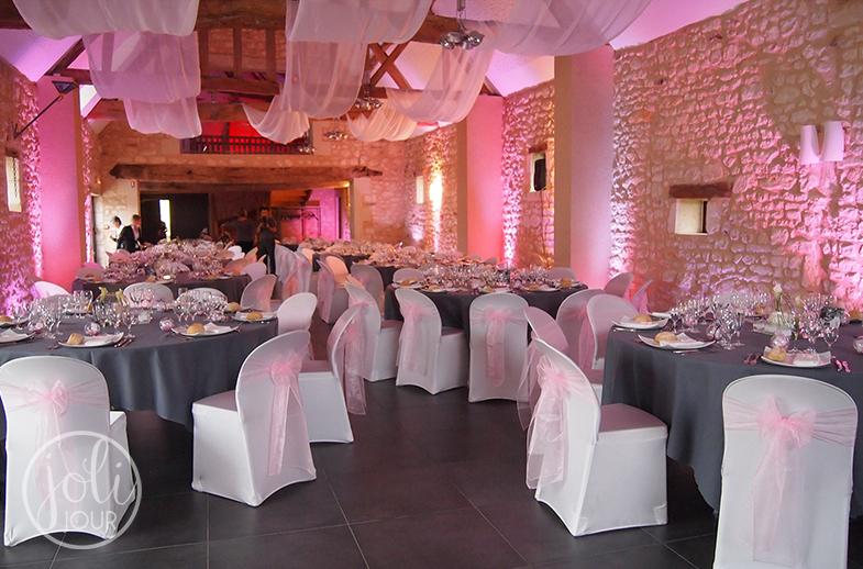 Location voilages et drapes pour mariage housses de chaise lycra blanches