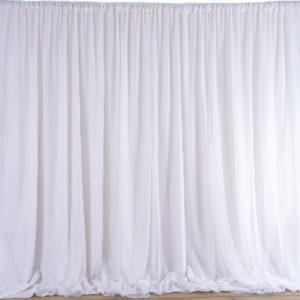 Location voilages murs drapes blancs pour mariage tentures decoration