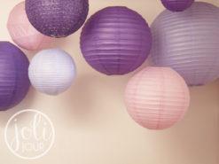 idees decoration mariage lanternes violette lilas parme rose pale